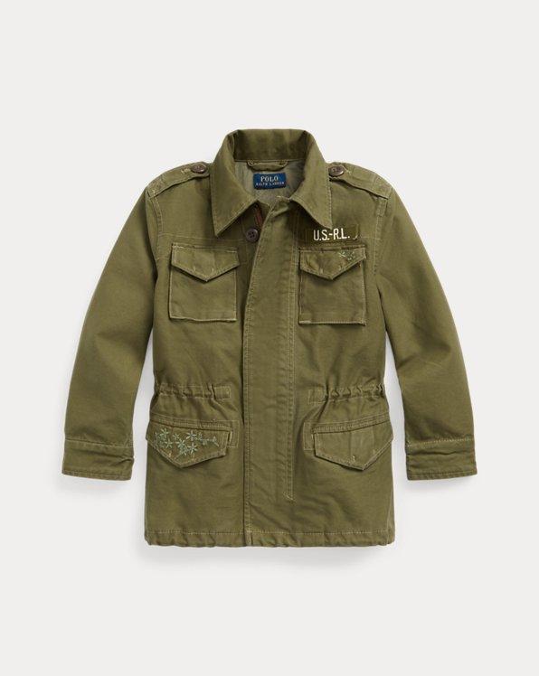 Military-Jacke aus Baumwolltwill