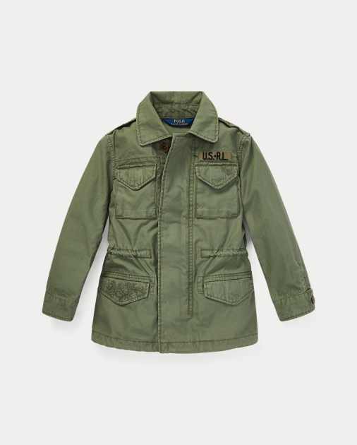 cb728df3f92eb GIRLS 1.5-6.5 YEARS Cotton Twill Military Jacket 1