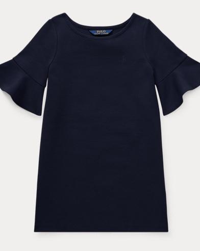Ponté-Kleid mit Glockenärmeln