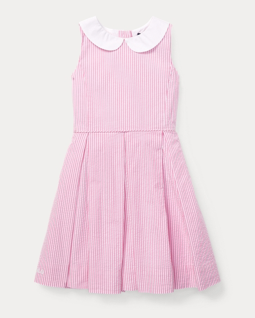 Girls 2-6x Seersucker Fit-and-Flare Dress 1