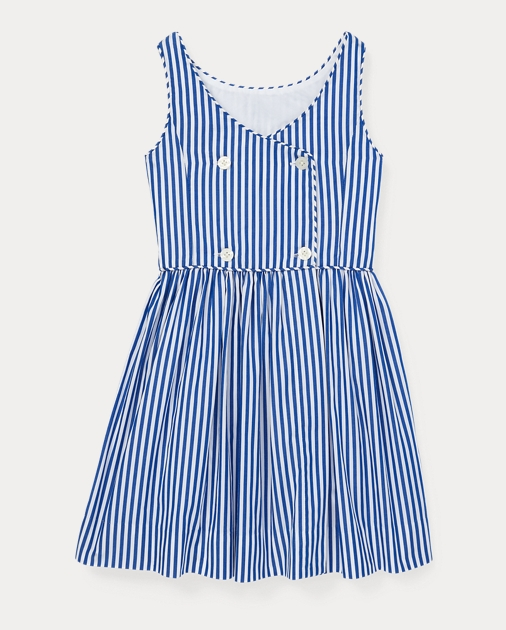GIRLS 1.5-6.5 YEARS Bengal-Stripe Cotton Dress 2