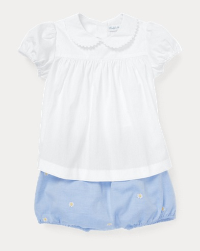 Cotton Shirt & Bloomer Set