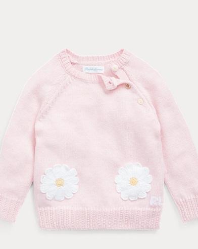 Daisy-Pocket Cotton Jumper