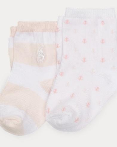 Paquete de 2 pares de calcetines de media caña