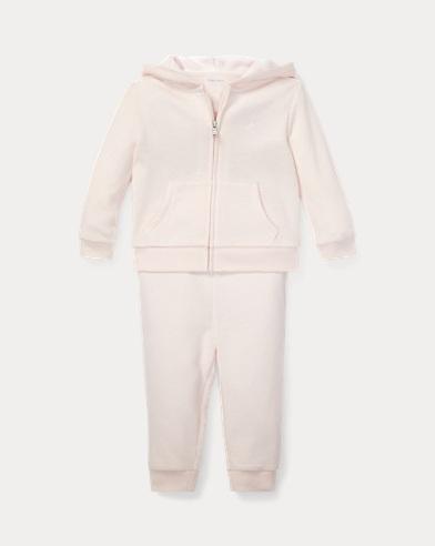 Conjunto de & pantalón y sudadera con capucha de algodón