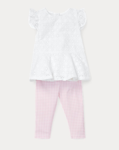 Eyelet Top & Gingham Legging