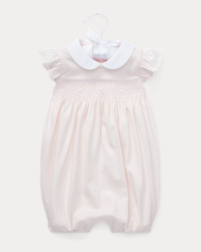 Smocked Interlock Shortall