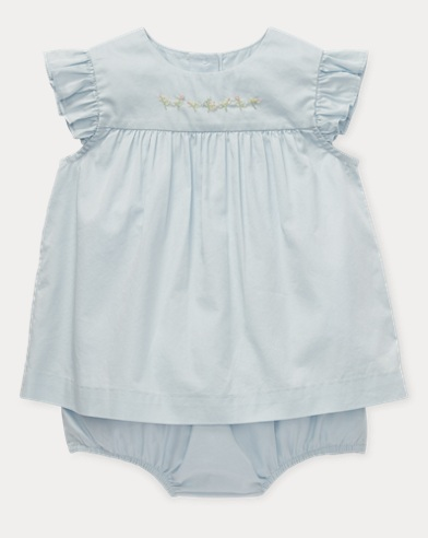 Embroidered Top & Bloomer Set