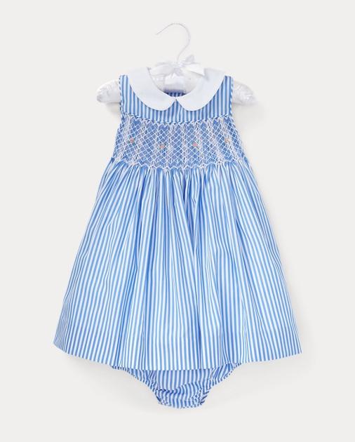 50f250a3dc07 Stripe Smocked Dress   Bloomer