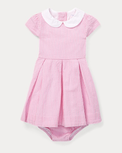 Seersucker Dress & Bloomer Set