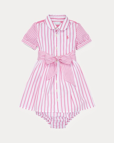 Striped Dress & Bloomer