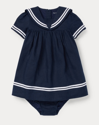 Linen Sailor Dress & Bloomer