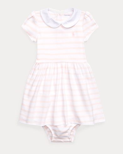 Striped Cotton Dress & Bloomer
