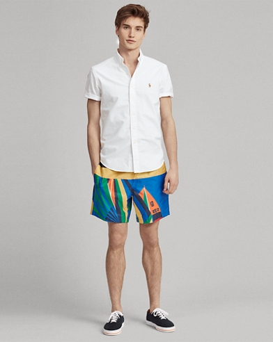 Sailboat-Print Short