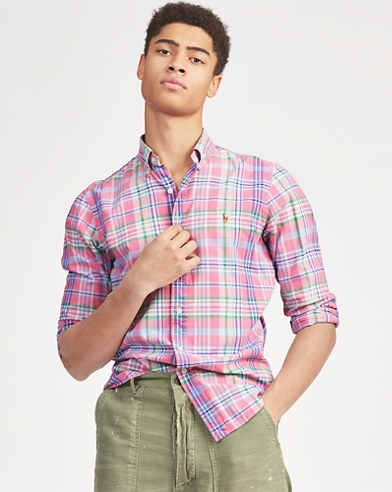 ed31bbe58 Classic Fit Plaid Oxford Shirt