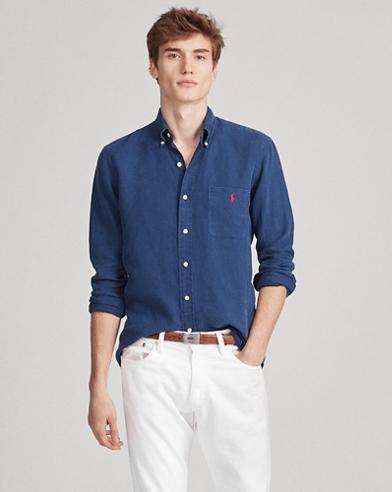 8f05773a4eb8f Classic Fit Linen Shirt