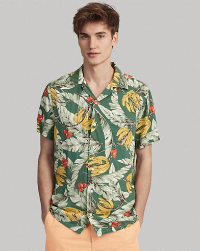 Classic Fit Banana-Print Shirt