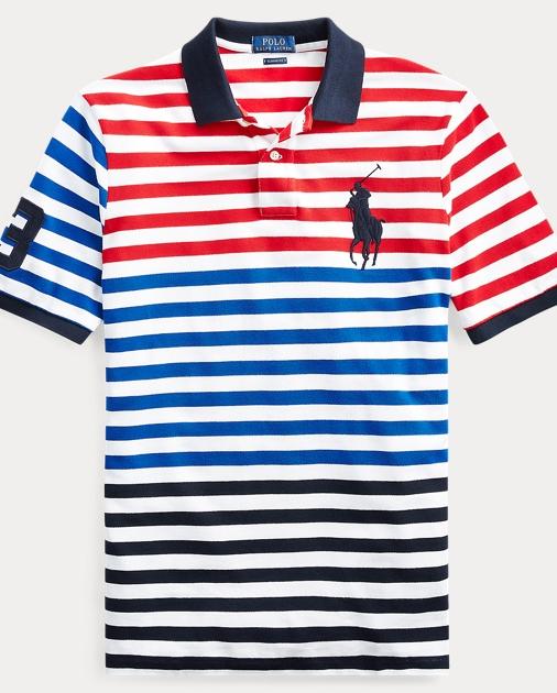 44d849613a8a9 Polo Ralph Lauren Classic Fit Striped Mesh Polo 2