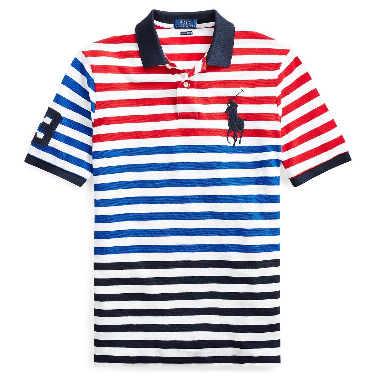 07bd62b039d0c Classic Fit Striped Mesh Polo