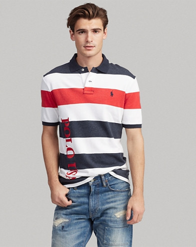 Classic Fit Striped Terry Polo
