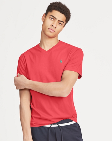 Classic Fit Cotton V-Neck Tee