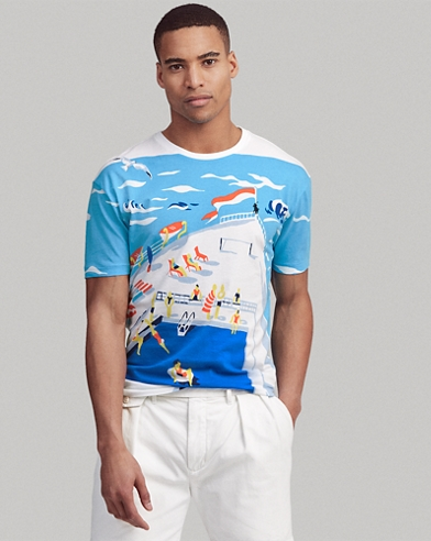 366ac8d6a9 Classic Fit Cotton Graphic Tee. Take 30% off. Polo Ralph Lauren