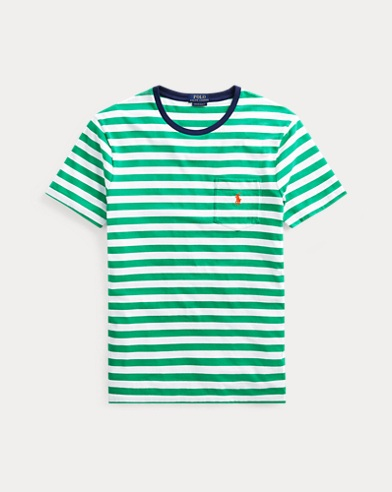 Classic Fit Striped Pocket Tee