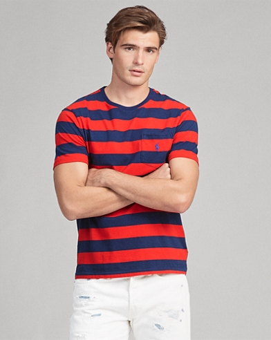 Custom Slim Fit Striped Tee