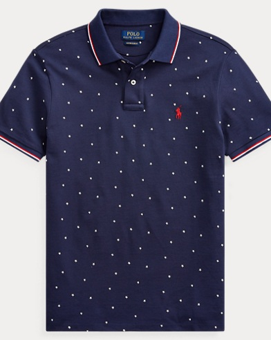 Classic Fit Star Mesh Polo