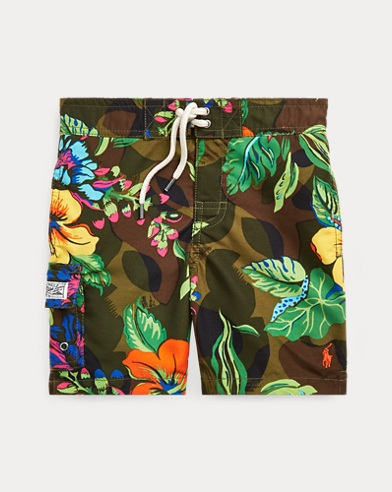 Kailua Floral-Camo Swim Trunk