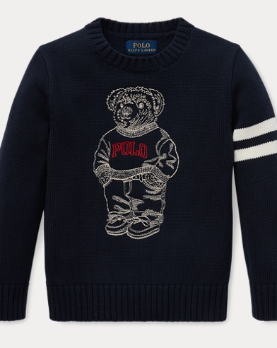 ff8b9efc Embroidered Polo Bear Sweater