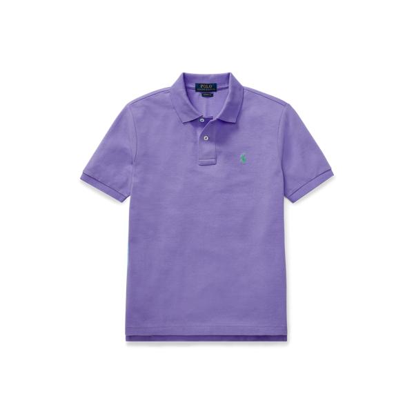 Polo Ralph Lauren Kids' Cotton Mesh Polo Shirt In Purple