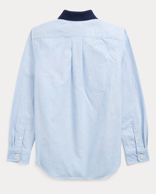 6b58894a Boys 8-20 Polo Bear Cotton Oxford Shirt 2