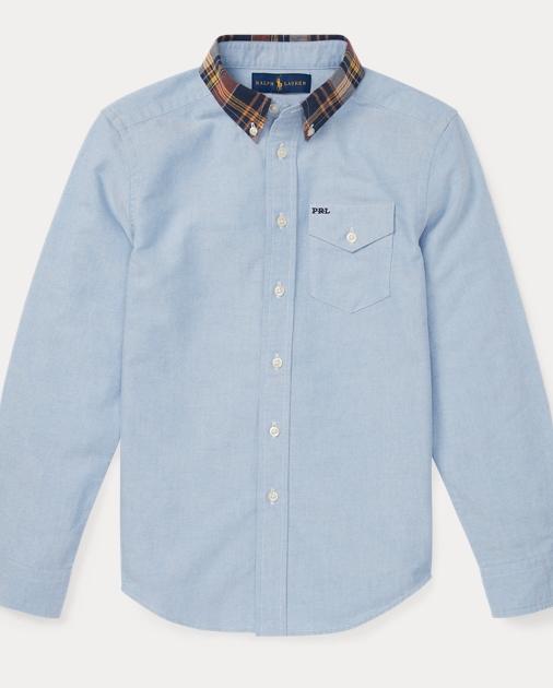 Plaid Collar Oxford Shirt by Ralph Lauren
