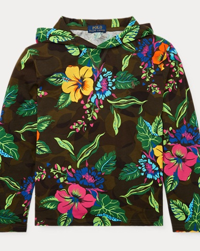 Floral Jersey Hooded Tee