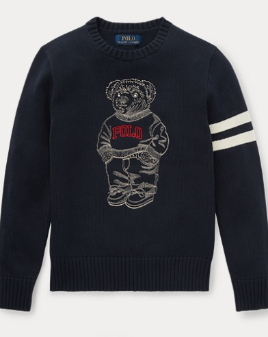 Embroidered Polo Bear Sweater