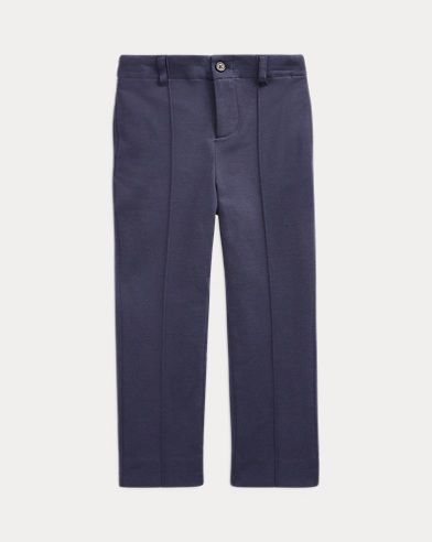 Cotton-Blend-Jersey Trouser