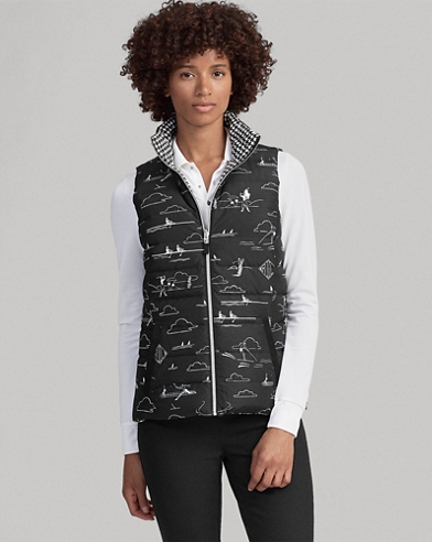 Reversible Packable Golf Vest