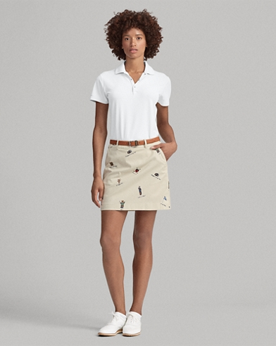 Print Wicking Golf Skort