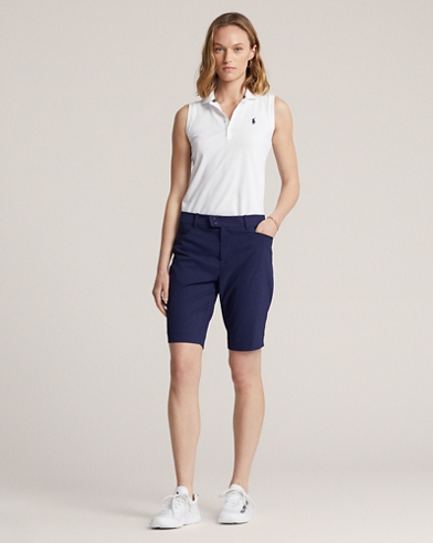 Stretch Satin Golf Shorts