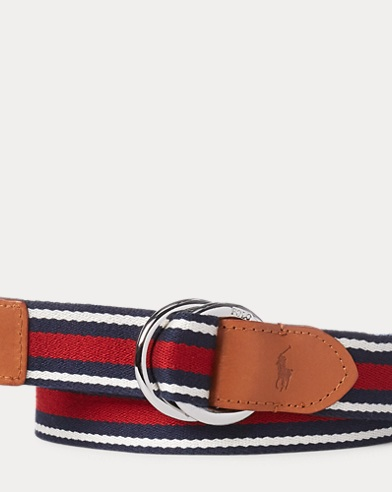 Striped Webbed Belt