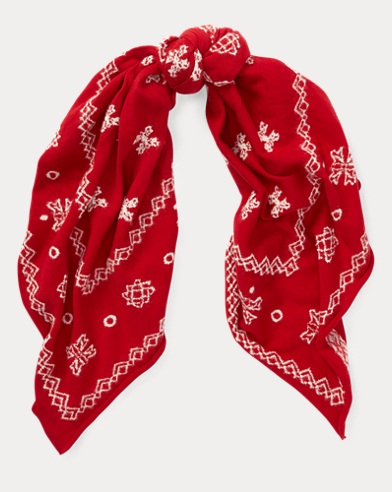 Cotton-Wool Square Bandana