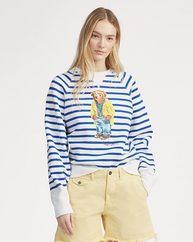 Polo Bear Striped Fleece Shirt