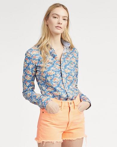 911c5bce8fa Print Knit Cotton Oxford Shirt