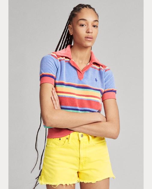 Polo Ralph Lauren Striped Terry Polo Shirt 1
