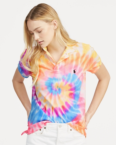 Classic Fit Tie-Dye Polo Shirt