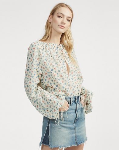 cada340f0b6 Floral Cotton Top