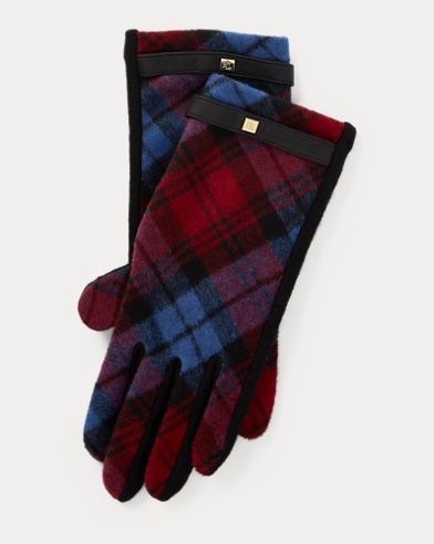 Tartan Wool Tech Gloves