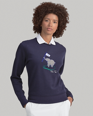 Embroidered Golf Pullover