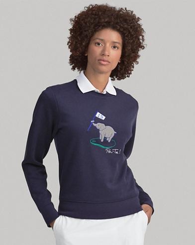 Pullover da golf ricamato